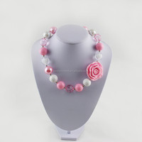 pink and ivory bulk bubblegum beads chunky necklace chunky necklace for girls