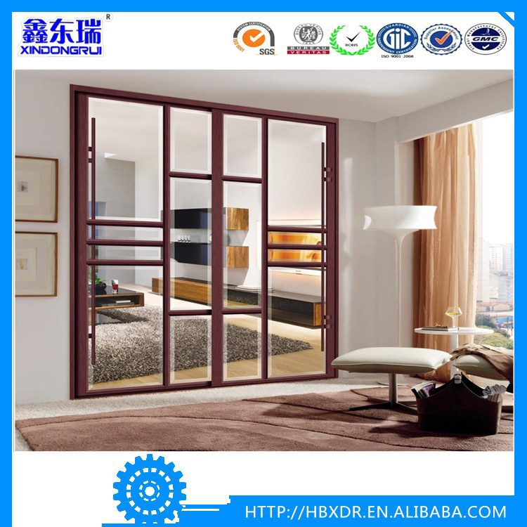 Aluminum alloy frame sliding glass screen doors 6063 for Aluminum sliding screen door