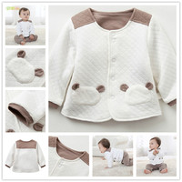 Infant & Toddlers White Organic Cotton Quilted Baby Kids Fancy Down Child Jacket
