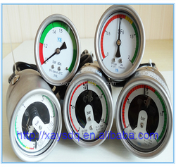 ISO9001,CE, shock-proof Magnetic electric contact pressure gauge bourdon tube