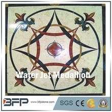 Factory Direct marble water jet square medallion design for Floor and Wall