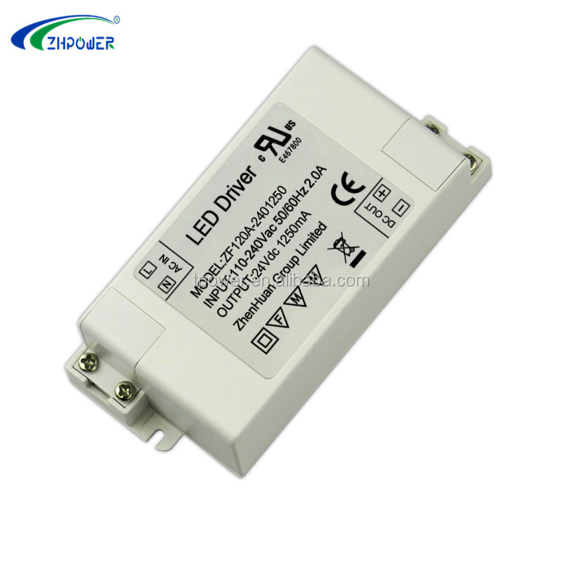 Security 30w constant voltage done led driver 24v 1.25a
