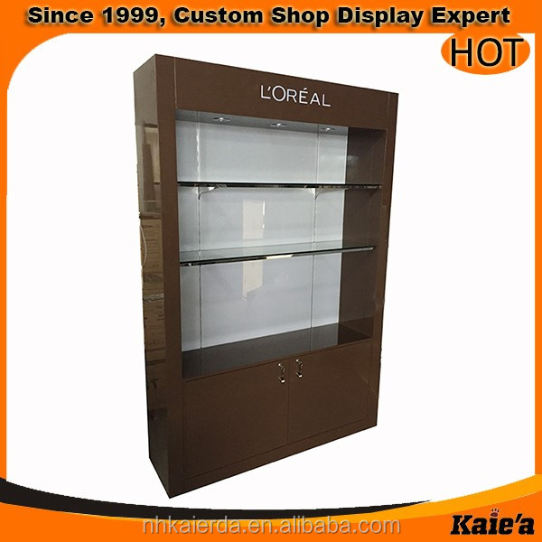 luxury brand cosmetic display cabinet