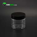 2oz plastic pet clear cosmetci jar with screw lid used for cosmetic packaging