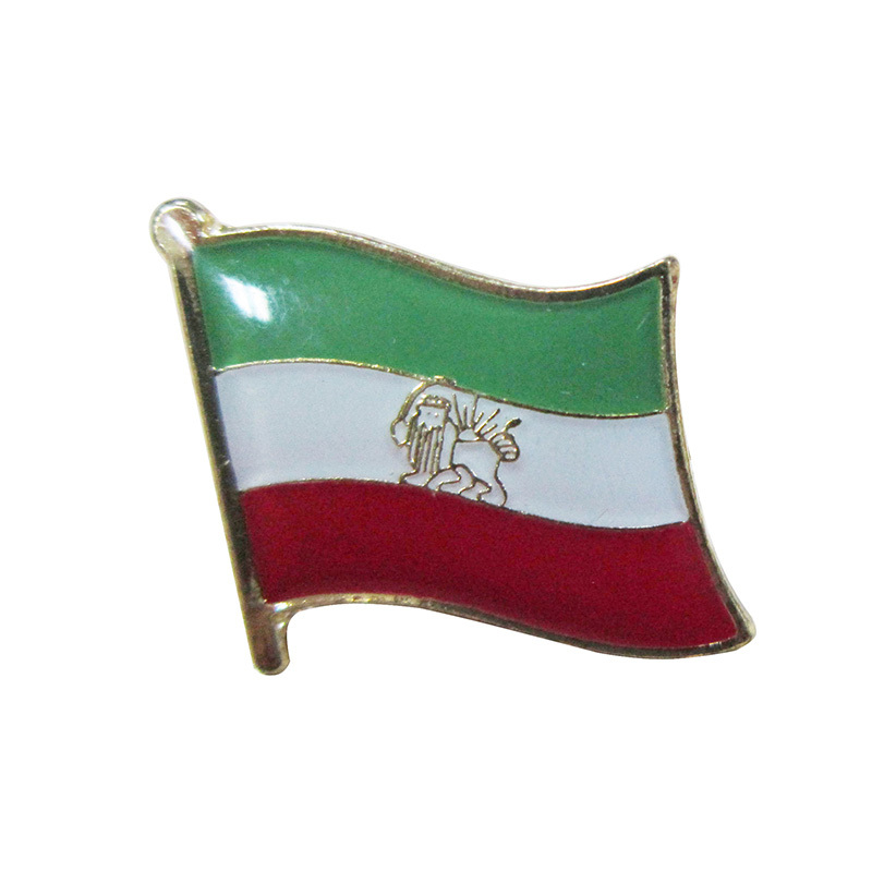 Cheap custom promotion metal badge lapel pins Iran flag pin crafts