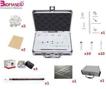 Permanent makeup microblading eyebrow kit with stencil
