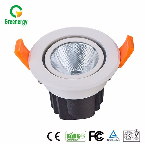 CE&RoHS Approval Commercial Project Indoor High Brightness LED COB Downlight 9W 80lm/w With Anti-glare Reflector