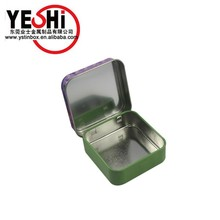 Small square tin box for lipstick candle candy packaging
