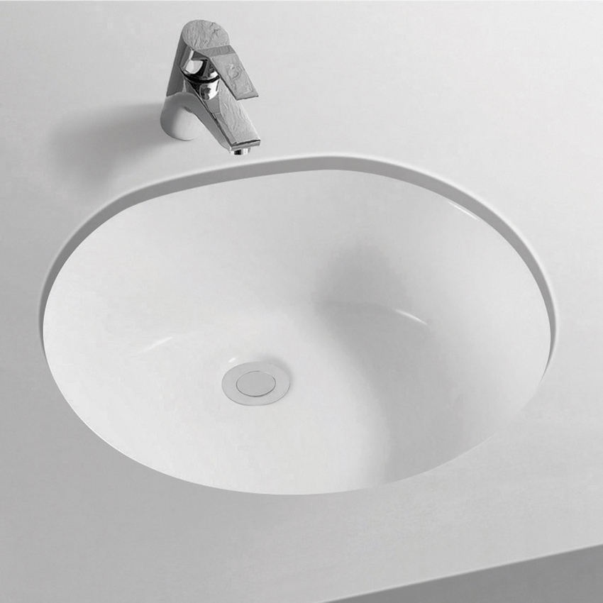 "TA-6031A 19"" Oval Round Under Counter Mounted Ceramic Basin Vanity Undermount Sinks"