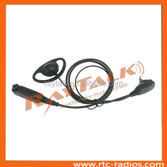 D Shape Earpiece with Mic and PTT for Tetra Sepura STP8000 STP9000 radio