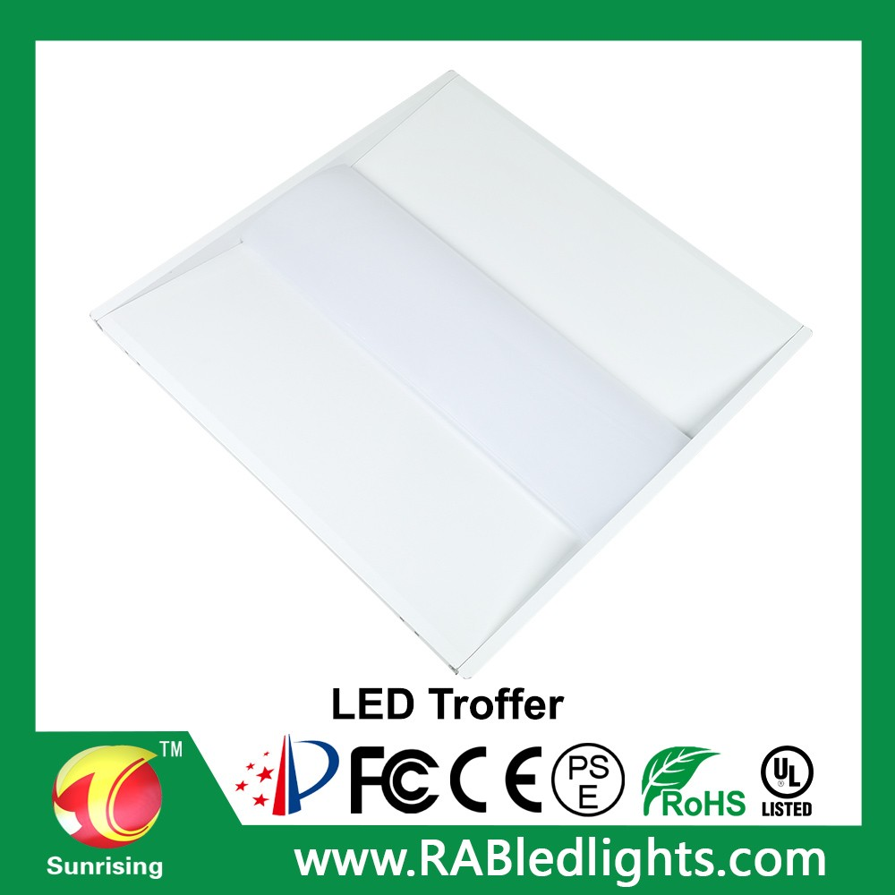 5 years warranty led troffer recessed light ETL DLC approved 2x2 led panel light 40w