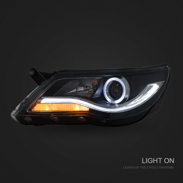 CCC CE E-Mark Car StylingHighly 2010 20112012 2013 2014 Volkswagen Tiguan Headlight with LED DRL and Bi-xenon Projector