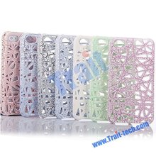Factory price!!! Fashionable Line Bird Nest Hard Case for iPhone 4S/4 (Various colors)