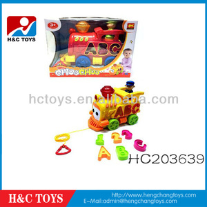 Kid educational toy,B/O building blocks toy train light with music,Block toy HC203639