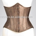 corset,underbust,brown leather/pu