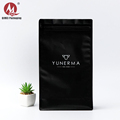 Custom gavure printed odm oem packaging aluminium foil flat bottom biodegradable black mylar ziplock bag