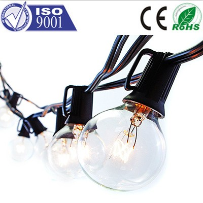 8m 7w G40 10m 25leds Globe bulb garland outdoor Christmas Decorative Fairy led festoon string lights for decoration