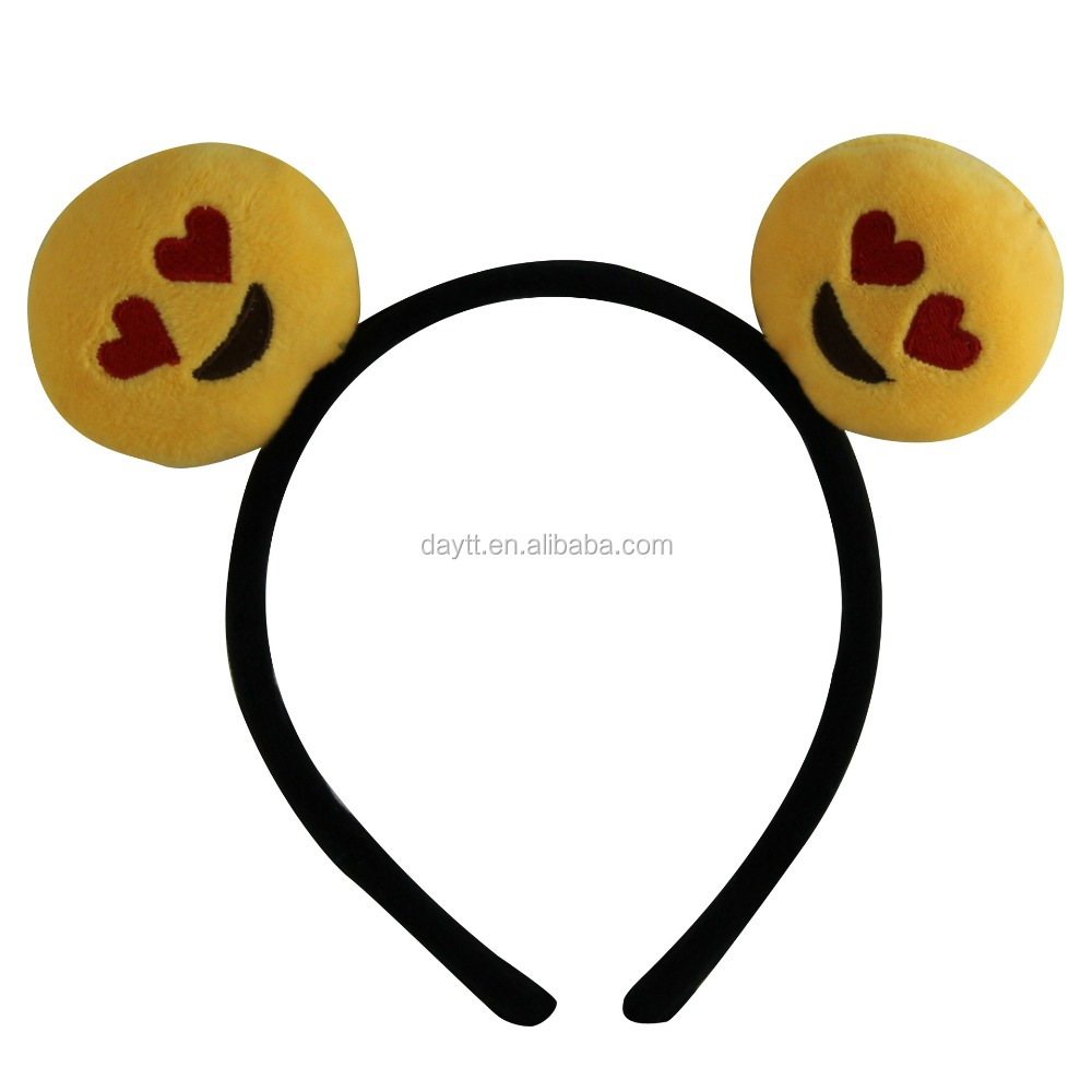 Promotional 2.4 inch Plush Emoji Headband Hairband for kids&girls' <strong>hair</strong> <strong>accessories</strong>