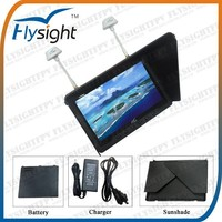 H243 Flysight High Quality 7 inch High Resolution 5.8Ghz Remote Control FPV Monitor RC801 Black Pearl No Blue Screen