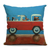 100% cotton cartoon cute dog driving car color digital printed cushion covers
