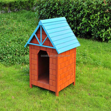 Dog House Wood Log Cabin Pet Outdoor Deluxe Shelter Kennel Doghouse New