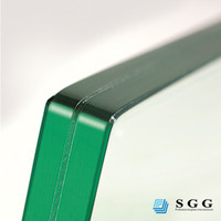 Sound proof/Heat proof clear polish edge laminated glass