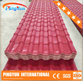 pvc resin roofing tile/heat insulation pvc roof sheet/synthetic resin roof tile