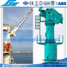 15T electric hydraulic offshore knuckle telescopic boom ship deck marine crane