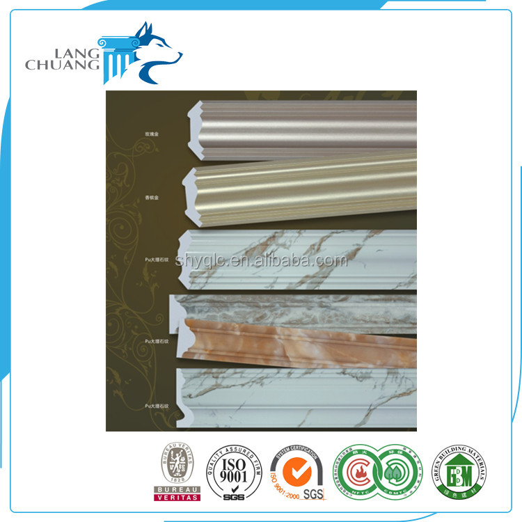 Residential Apartment PU Decorative Wood Trim Moulding