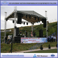 Easy install aluminum lighting truss with movable stage and roof cover