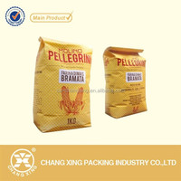 Eco-friendly plastic food packing bag for agricultural,farina,rice use 1kg