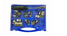 TC hardware&houseware New Products 51pc Asortment Metal Hose Clamps Kits