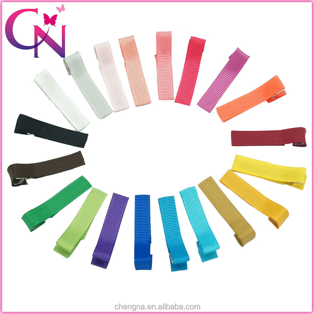 how to make ribbon covered hair clips