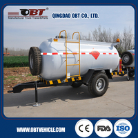 Low-cost small fuel tank trailer, farm fuel tanker trailer
