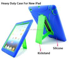 Robot design Heavy duty and shockproof cover case for iPad 2 3 4 with stand