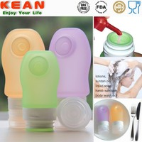Portable Squeeze Silicone Travel Containers for Cosmetics
