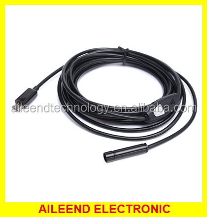 3.5M/11.48ft Waterproof IP66 Mini 7mm Lens Camera USB 6-LED Endoscope Support Android