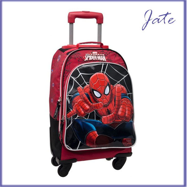 2016 New Design Spiderman Heavy-duty Trendy School Trolley Bag