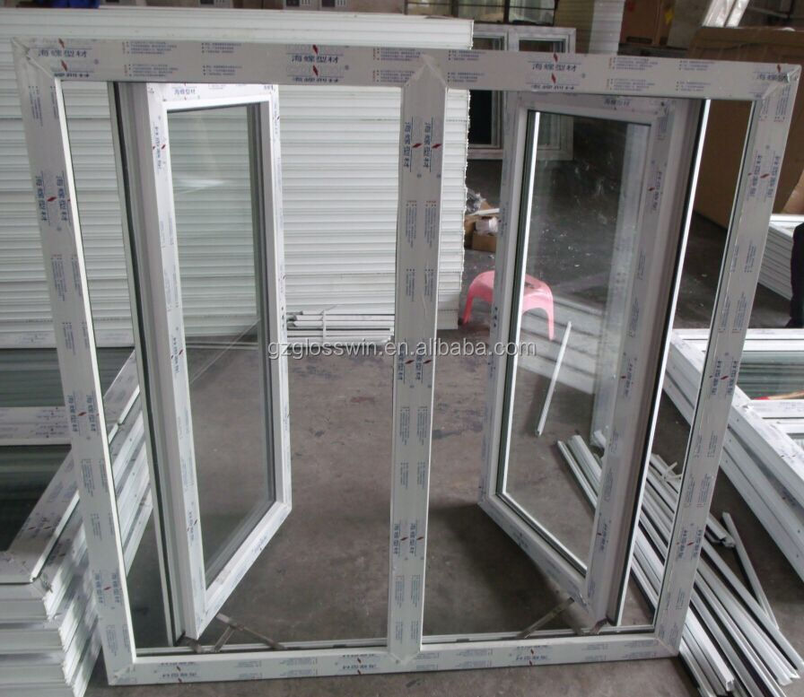 Pvc casement window with friction hinge