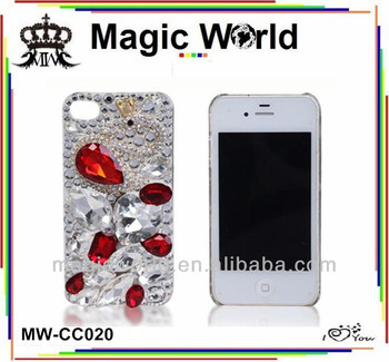 2013 luxury For iphone swan diamon crystal bling phone case