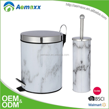 Hotel Kitchen Equipment Metal Garbage Foot Step Dustbin with plastic inner bucket