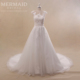 2017 luxury backless cap sleeve lace bride designer wedding dress
