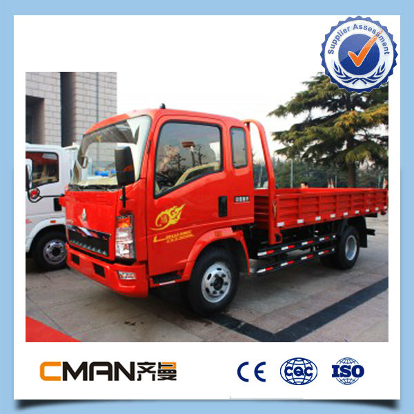 China diesel type 3 ton howo brand 6 wheeler truck with good appearance hot sale