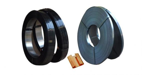 high quality 16mm19mm32mm black painted waxed steel strapping mental steel strip