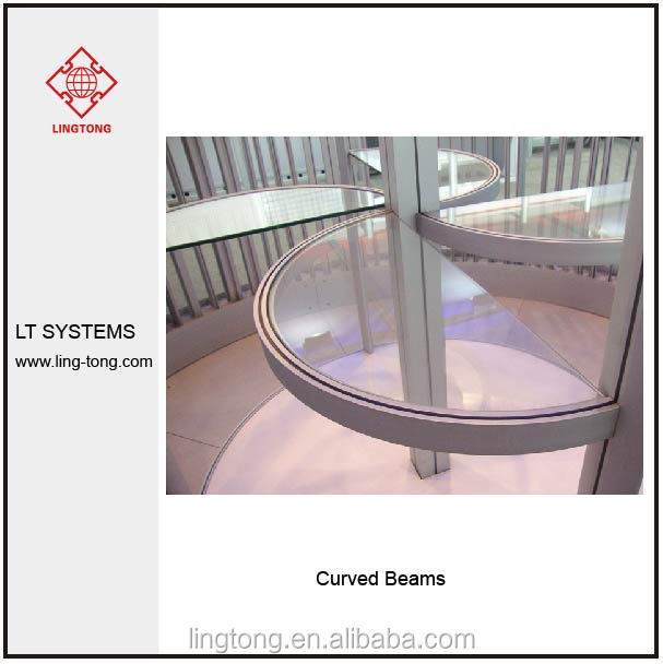 Curved Aluminium Beam 40mm for Exhibition Booth 4.3mm groove