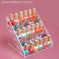 High transparent acrylic 5 tier nail varnish display