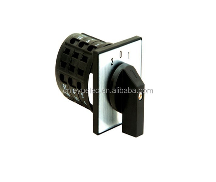 LW26D series finger prove terminals 4 position rotary switch