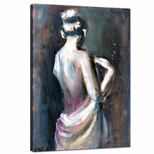 Woman Figure Oil Painting Feeling Print/Sexy Girl Back Wall Art Dropship/Modern Framed Art Home Wall Decal