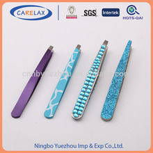 familiar in ODM factory Precision stainless steel curved tweezers