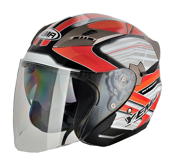 YM-627 jet open face ac scooter motorcycle helmet dual visor with DOT approved